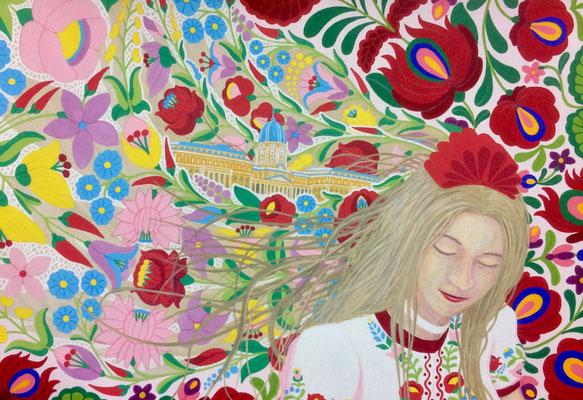 文化と文様シリーズ No.039 『ハンガリー/カロチャ刺繍、マチョー刺繍』