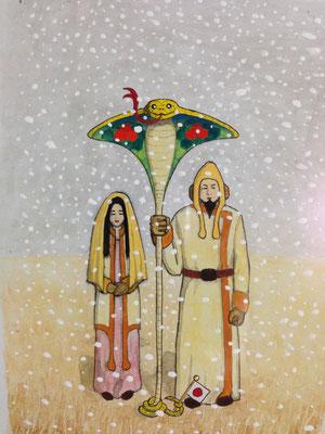 巳年『夫婦(めおと)相々コブラ傘』