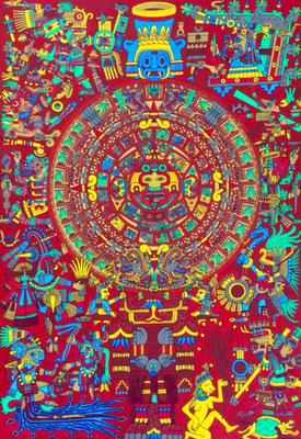 文化と文様シリーズ No.023 『アステカ/太陽の石』