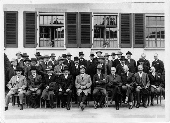 1928 - Eröffnungsfeier Firma Wander - geladene Gäste