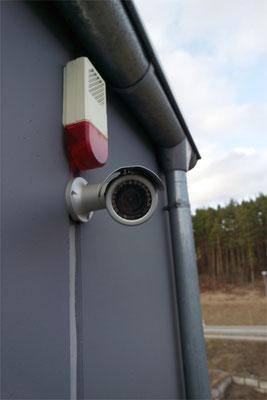 Überwachungskamera und Alarmanlage