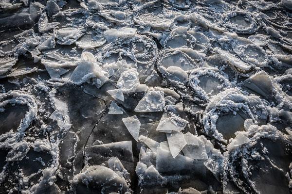 Eisschollen auf der Oder