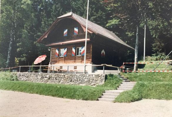 Planierung der Spielwiese 1990