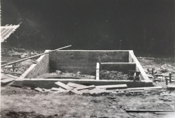 Beginn mit dem Bau Frühling 1930
