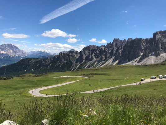 Passo Giau höchster Punkt vom heutigen Tag ! 2237