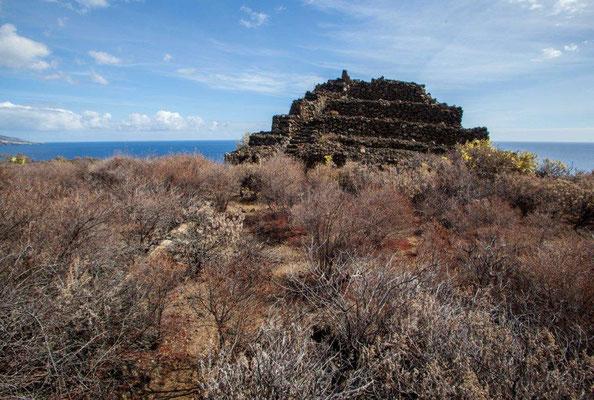 Pyramidenbau aus vermutlich vorspanischer Phase auf La Palma / © Klaus Schindl