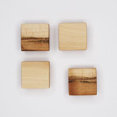 Magnete aus Ahorn, Kernahorn, Oberfläche glatt, geölt