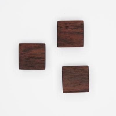 Magnete aus Nußbaum, Oberfläche glatt, geölt