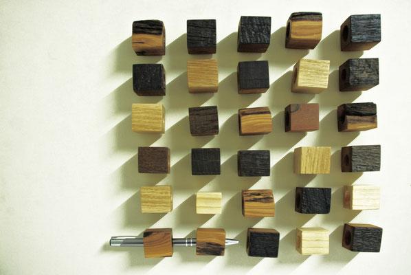 Stiftehalter für Boardmarker und Kugelschreiber, diverse Holzarten