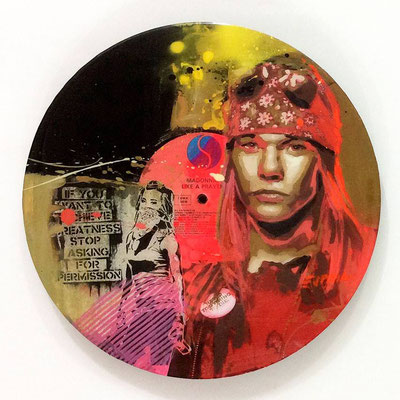 "Vinyl Records ""CELEBRITIES"" serie / Axl Rose - Guns N' Roses  by ©Rafael Espitia"