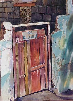 Se alquila :: Acuarela Rafael Espitia 1985