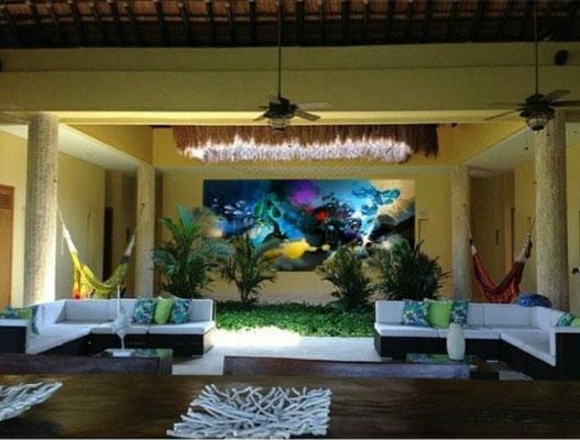Mural Digital entrada principal casa privada en la Isla de Barú