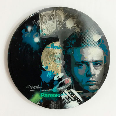 "Vinyl Records ""CELEBRITIES"" serie / JAMES DEAN  by ©Rafael Espitia"
