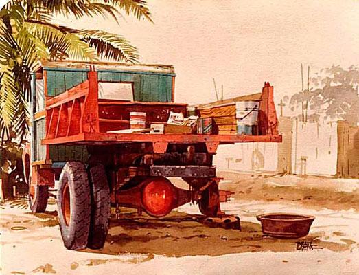 En el taller :: Acuarela Rafael Espitia 1983