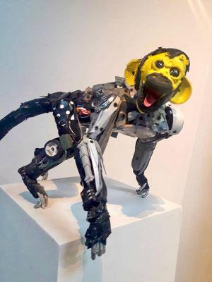 Serie Monos / Esculturas hechas con objetos reciclado / Disponible