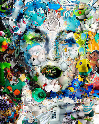 Madonna / Toy Recycled Optical Illusion Digital Art / ©Rafael Espitia