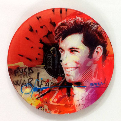 "Vinyl Records ""CELEBRITIES"" serie / JHON TRAVOLTA  by ©Rafael Espitia"