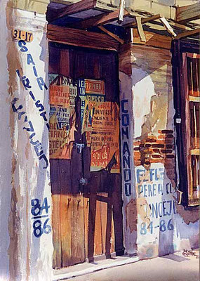 Concejo 84/86 :: Acuarela Rafael Espitia 1985
