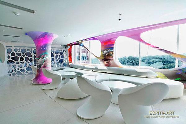 Instalaciones Artísticas para Hoteles, Bares y Restaurantes por Rafael Espitia