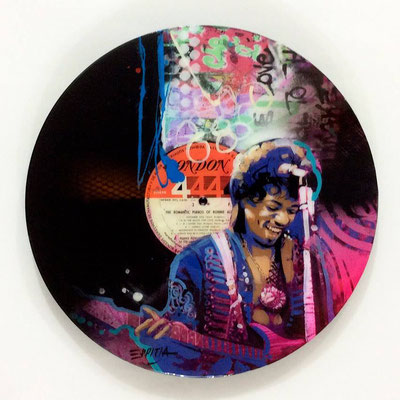 "Vinyl Records ""CELEBRITIES"" serie / JIMI HENDRIX by ©Rafael Espitia"