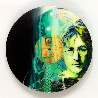 "Vinyl Records ""CELEBRITIES"" serie / JOHN LENNON  by ©Rafael Espitia"