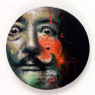 "Vinyl Records ""CELEBRITIES"" serie / DALI  by ©Rafael Espitia"