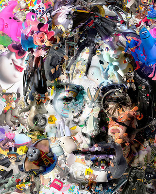 John Lennon / Toy Recycled Optical Illusion Digital Art / ©Rafael Espitia