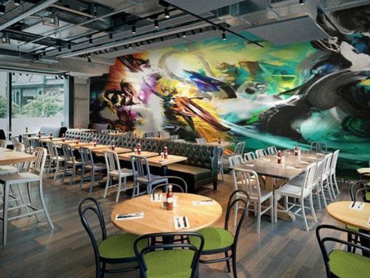 Mural Digital en 3D para restaurantes