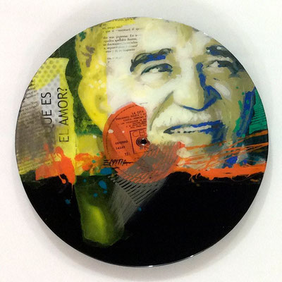 "Vinyl Records ""CELEBRITIES"" serie / GABRIEL GARCIA MARQUEZ by ©Rafael Espitia"