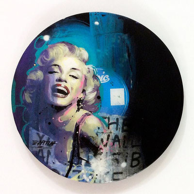 "Vinyl Records ""CELEBRITIES"" serie / MARILYN MONROE  by ©Rafael Espitia"