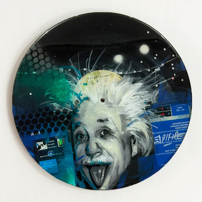 "Vinyl Records ""CELEBRITIES"" serie / ALBERT EINSTEIN  by ©Rafael Espitia"