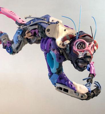 Serie Monos / Esculturas hechas con juguetes reciclado / Disponible