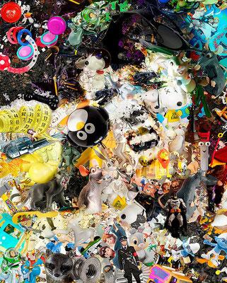 Elvis Presley / Toy Recycled Optical Illusion Digital Art / ©Rafael Espitia