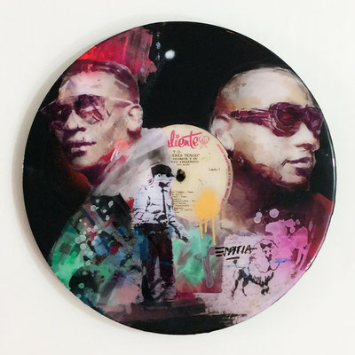 "Vinyl Records ""CELEBRITIES"" serie / GENTE DE ZONA  by ©Rafael Espitia"