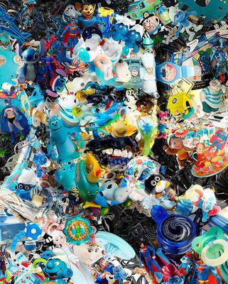 Freddie Mercury / Toy Recycled Optical Illusion Digital Art / ©Rafael Espitia