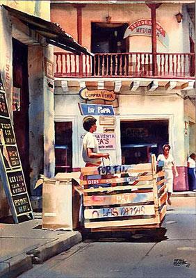 El Recicle :: Acuarela Rafael Espitia 1987