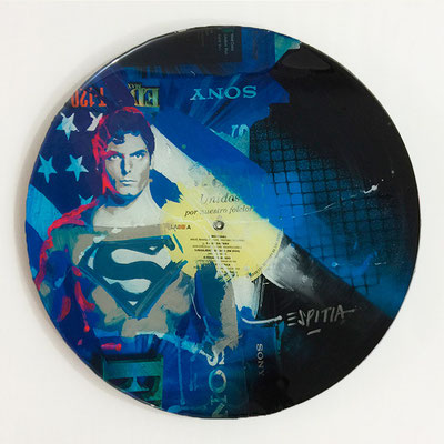 "Vinyl Records ""CELEBRITIES"" serie / SUPERMAN by ©Rafael Espitia"