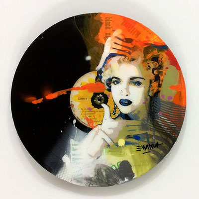 "Vinyl Records ""CELEBRITIES"" serie / MADONNA  by ©Rafael Espitia"