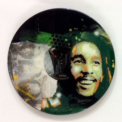"Vinyl Records ""CELEBRITIES"" serie / BOB MARLEY  by ©Rafael Espitia"