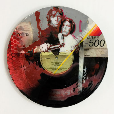 "Vinyl Records ""CELEBRITIES"" serie / STAR WARS  by ©Rafael Espitia"