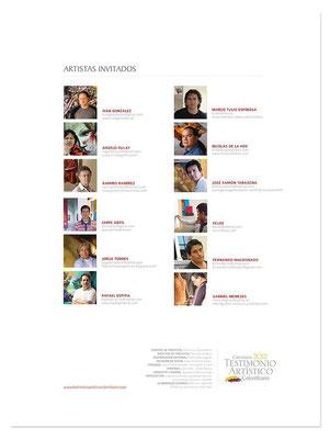 Artistas Calendario 2012 Testimonio Artistico Colombiano