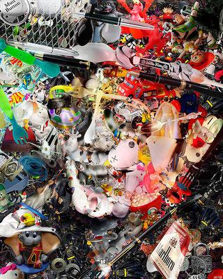 Michael Jackson / Toy Recycled Optical Illusion Digital Art / ©Rafael Espitia
