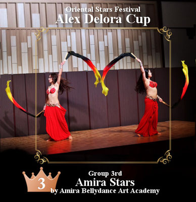 【ベリーダンス コンペティション】グループ 3rd Amira Stars
