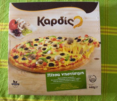 Vegane Pizza von Lidl, die es Hauptsächlich zur Fastenzeit gibt.