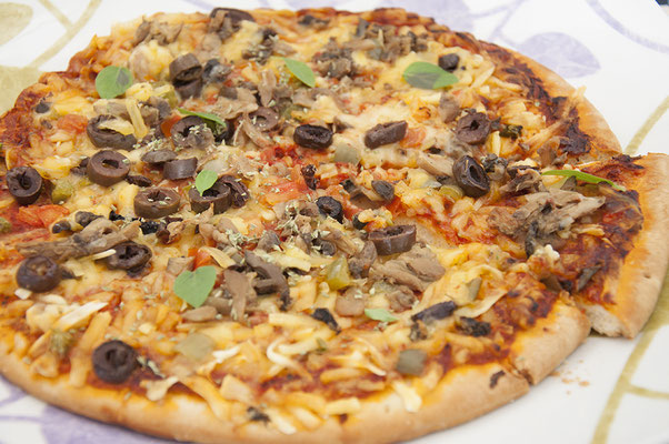 Vegane Fasten-Pizza von Lidl.