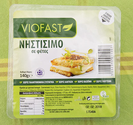 Viofast, geschmacklich erinnert er an Gouda oder Butterkäse.