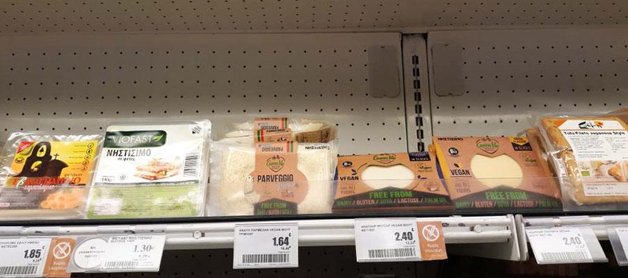 Veganes Käse Angebot bei Sklavenitis.
