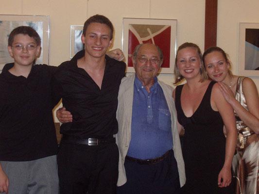 Maestro Bernard Greenhouse, Joanna Kielar, Maria Daroch, Boris Nedialkov