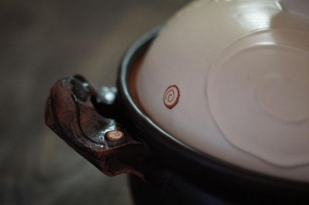 仲本律子 陶芸家 笠間焼き 土鍋 ご飯土鍋 二重蓋 炊飯 粉引