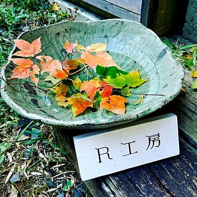 陶芸 陶芸家 仲本律子 笠間市 紅葉 鉢 ビードロ釉